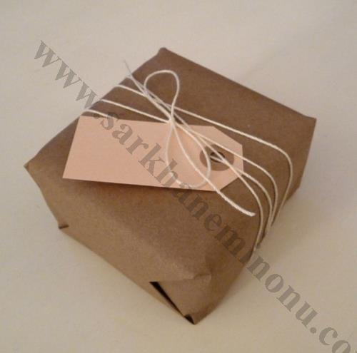 Kraft Kağıdı Paketli Kutu Nikah Şekeri