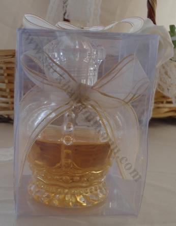 Asetat Kutuda Kolonyalı Kristal Cam Şişe Nikah Şekeri