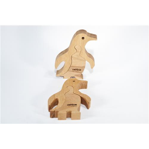 Kutup Soylusu Penguen Ahşap Puzzle Oyuncak