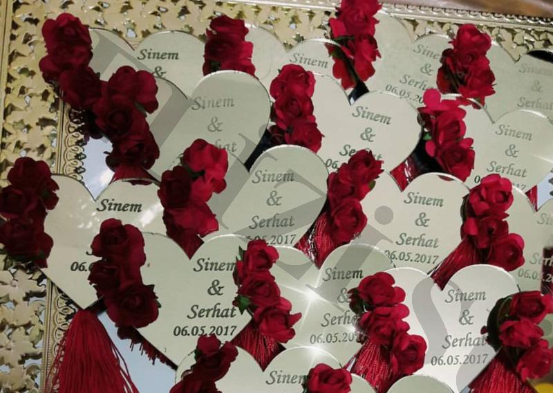 Kalpli Pleksi Nişan & Düğün Hediyesi