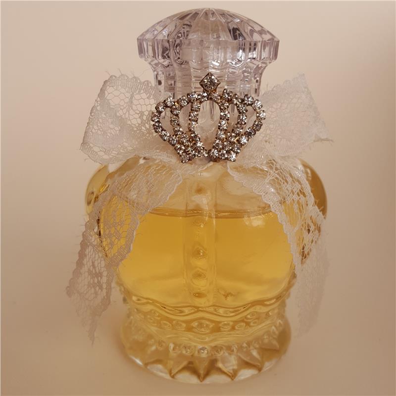 Kolonyalı Prenses Taçlı Kristal Cam Şişe Bebek Şekeri