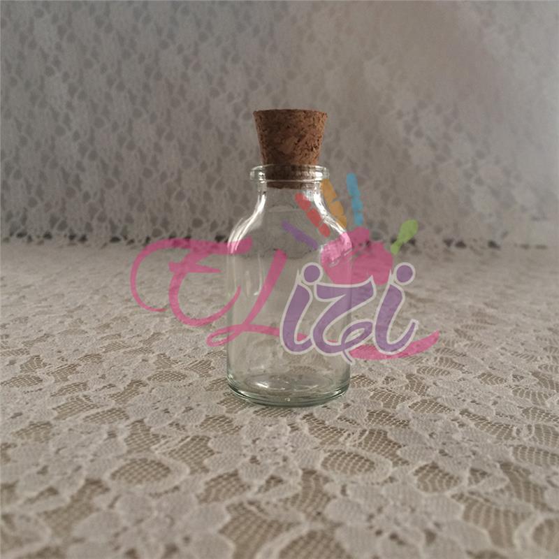 ( 25 cc ) Mantar Kapaklı Cam Şişe (120