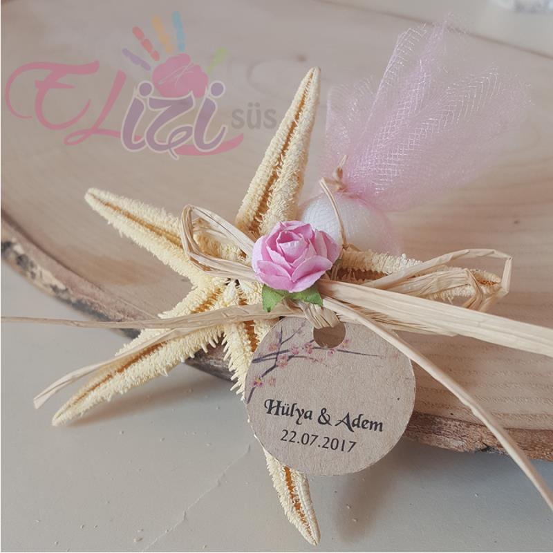 Çiçekli Deniz Yıldızı Nikah Şekeri