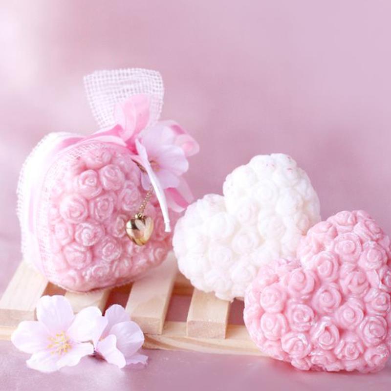 Güllü Kalpli Sabun Nişan Düğün Hediyesi