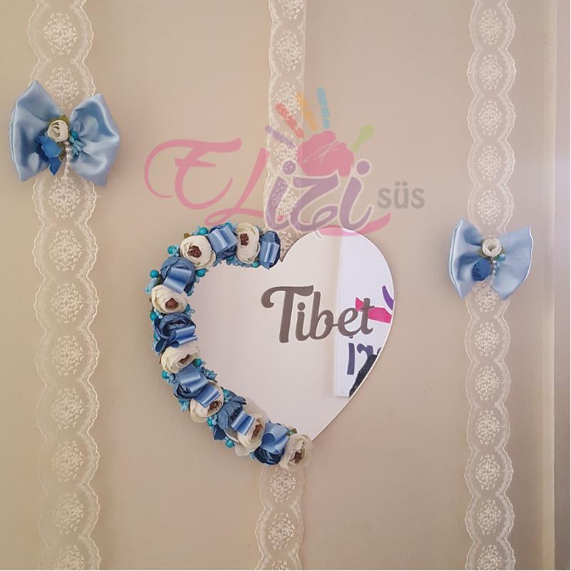 Kalpli Pleksi Bebek Kapı Süsü Mavi