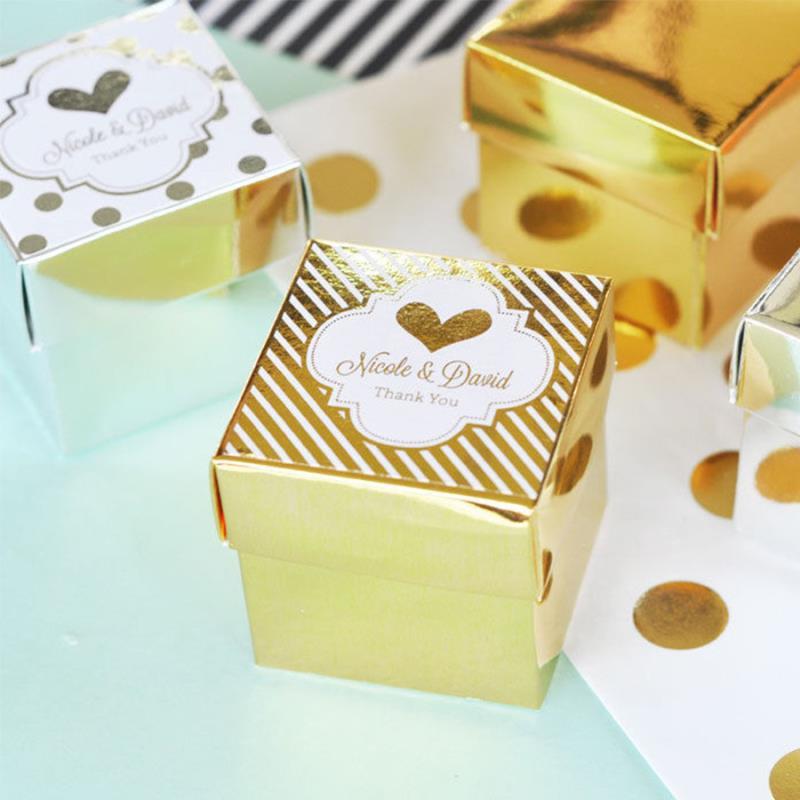 Altın Sarısı Kare Kutu