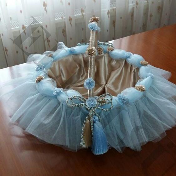 Mavi Bebek Şekeri Sepeti