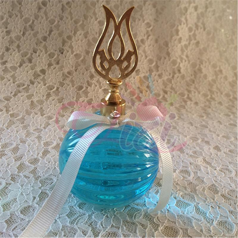 Lale Kulplu Parfüm Şişesi Bebek Şekeri